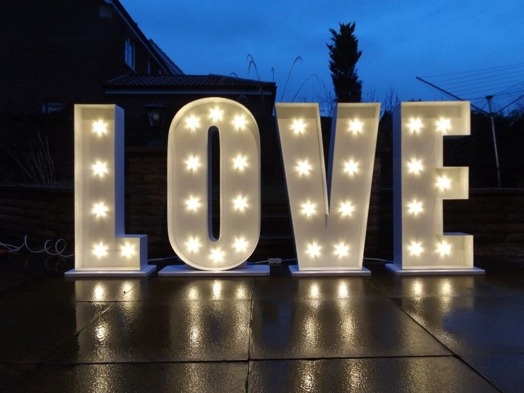Illuminated Wedding Event Letters Giant Love Mr