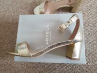 Gold Carvela Kurt Geiger 'Gospel' Sandal Heels - Size 8/41 - new, never worn