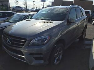 2015 Mercedes-Benz M-Class ML350 BlueTEC 4MATIC + Vrai Cuir / Sp