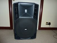 RCF ART SERIES725 POWERED SPEAKERS A PAIR WITH RCF COVERS