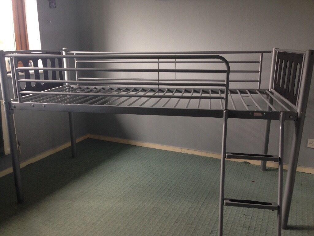 Ikea grey metal cabin bed (vgc) | in Nuneaton, Warwickshire | Gumtree