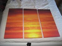 Sunset Canvass 3 piece print
