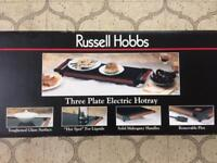 RUSSELL HOBBS Three Plate Electric Hot Tray BRAND NEW