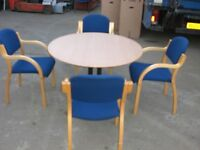 Round Meeting Table & Chairs