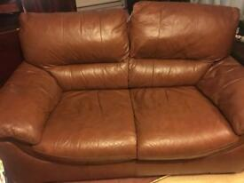 Free two seater leather couch