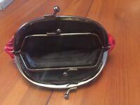 Beautiful red leather clutch/ purse
