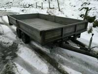 Indespension 12x6 2700kgs dropside plant trailer