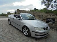 Saab 9-3 Vector 150BHP S A Convertible Automatic In Silver, 2005 05 reg, Service History