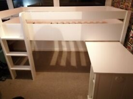 Single cabin bed from Next. Pull out desk