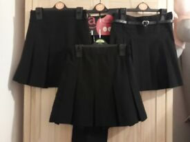 Girls Black School Uniform, Age 4-5 Years, 3 x Skirts and 1 x Trousers