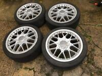 """Genuine Bbs RS2 alloy wheels with tyres 5x112 18"""""""