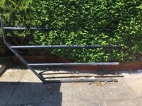Metal railing for the staircase support