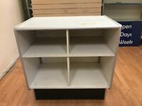 WHITE WOODEN COUNTER FOR SALE 90CM X 56CM FOR SHOP DISPLAY RETAIL
