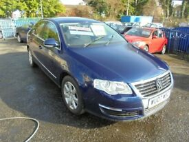VW PASSAT 1968cc SE TDI 140 TURBO DIESEL 4 DOOR SALOON 2007-07