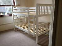solidwood bunk beds in white and wood colours available free fitting and delivery