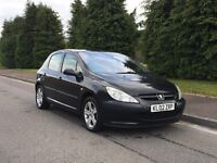 Peugeot 307 GLX HDI - A cheap Diesel with long MOT *Like*206*polo*golf*focus*leon