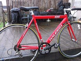 Road bike R300 raleigh s/m frame 54cm, 18speed