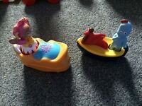 Roll Along iggle piggle and upsey daisy from in the night garden figures