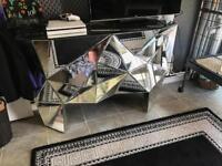 Geometric mirrored sideboard
