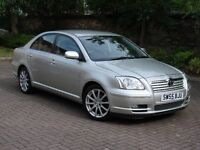 EXCELLENT DIESEL!!! 55 REG TOTOTA AVENSIS 2.0 D-4D T SPIRIT 5dr, FULL BLACK LEATHER, 1 YEAR MOT