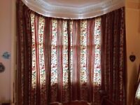 Bay Window Fully Lined Curtains