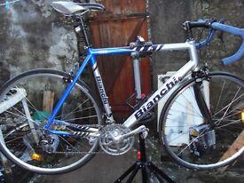 Bianchi via nirone 7..56cm italian road bike 27 campagnolo gears