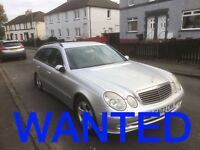 MERCEDES BENZ CARS ANY CONDITION !!! WANTED