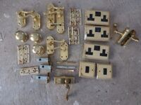 Gold coloured handles, sockets and switches