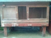 Guinea-pig/Rabbit Hutch with detachable stand and cover