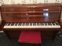 1960s Zender Overstrung Upright Piano With Stool