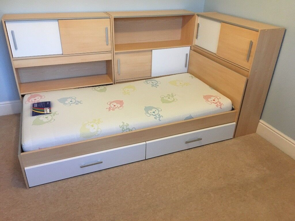 Dreams Snoop Single Bed With Storage And Side Shelving
