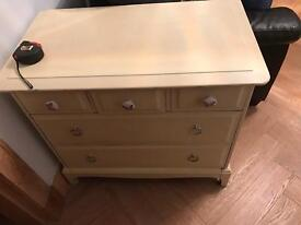 Annie Sloan stag chest of drawers in cream