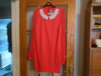 coral dress size 12