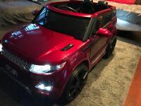 Range rover electric parental control car
