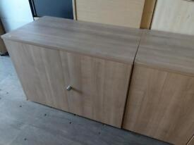 2 x high quality lite oak stationary storage cupboards on clearance just £45 each!! Only
