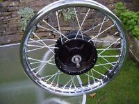 BSA C15 Rebuilt Front Wheel.