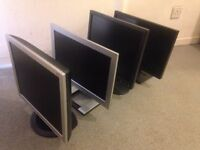 """4 LCD COMPUTER PC MONITOR 17""""INCH WITH VGA PORT + PLUG LEADS VGC - £20 EACH. Dell Samsung LG"""