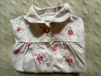 Little White Company - Cotton rose Sleep Suit 3-6 months