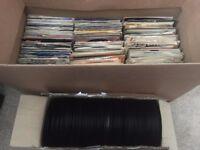"Job lot of 540 Vinyl records all 7"" singles"