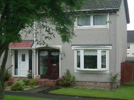 Pleasantly situated, unfurnished 2 bed semi to let in Motherwell