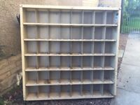 Industrial steel shelving / pigeon hole unit Shabby chic furniture.