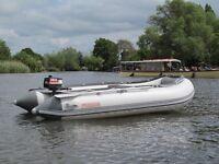 Suzamar 3.2M Aluminium floor semi rigid inflatable rib Yamaha outboard foldaway boat ideal fishing