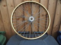 A single front BMX wheel size 20 inch in good condition