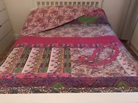 Beautiful ethnic kingsize quilted throw and 3 large matching pillow cases, from THE PIER, £255RRP