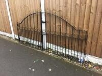 set of wrought iron arched driveway gates / metal arrow head gates £120