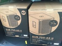 RCF SUB 705-AS Mk2 15 inch Active Subwoofers