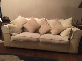 2 AND 3 SEATER CREAM SOFA'S *Can Be Sold Separately*