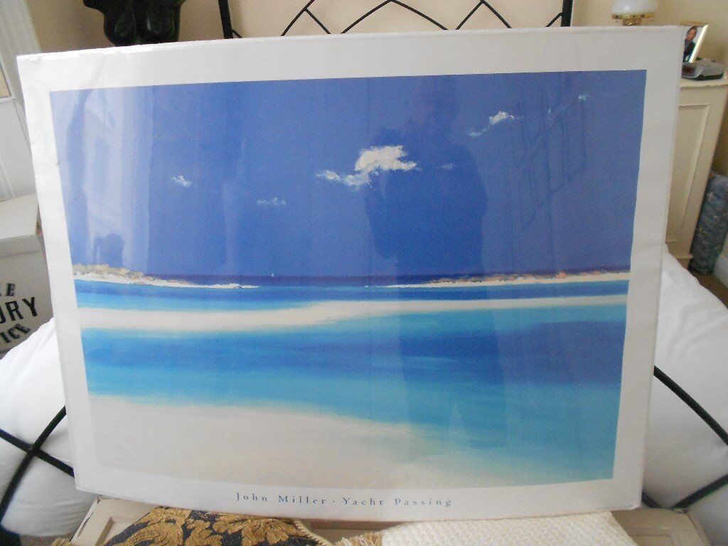 """Yacht Passing"" - Seascape print by John Miller. Still in shrink-wrap"