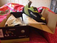 Brand new Elderid Typhoon Climbing shoes 6.5 in box
