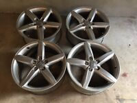 Genuine audi 18 inch alloys 5 x 112 good condition £225 open to offers perfect christmas present